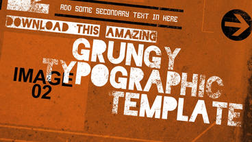 Grunge Style Kinetic Typography After Effects Project