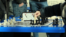 Chess tournament outdoors Stock Video Footage