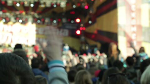 People cheering at concert 1 Stock Video Footage