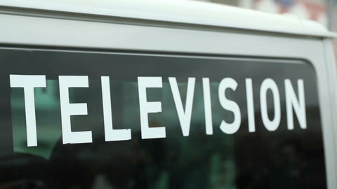 Television car Stock Video Footage