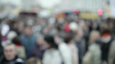 People crowd in blur Stock Video Footage
