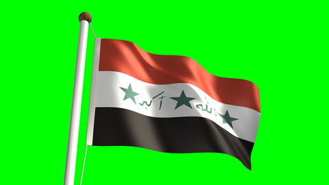 Iraq flag Stock Video Footage