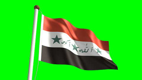 Iraq flag Animation