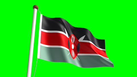 Kenya flag Stock Video Footage