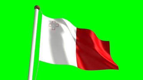 Malta flag Animation