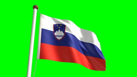 Slovenia flag Stock Video Footage