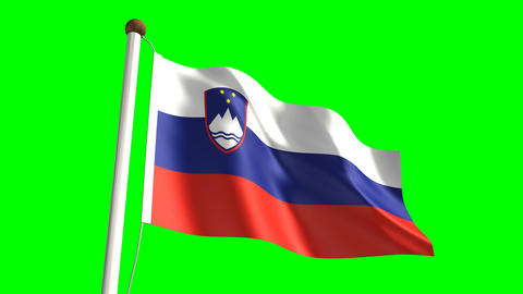 Slovenia flag Animation