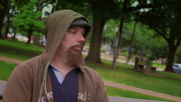 Sad Man Stock Video Footage