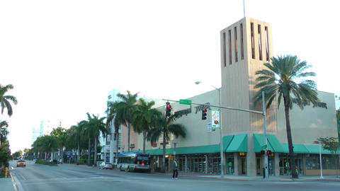 MIAMI - FEBRUARY 2: Washington Avenue is one of the... Stock Video Footage