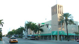 MIAMI - FEBRUARY 2: Washington Avenue is one of the best-known streets in South Beach. Running paral Live Action