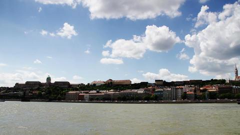 4 K Castle of Buda Budapest Hungary Timelapse Daytime 1 Footage