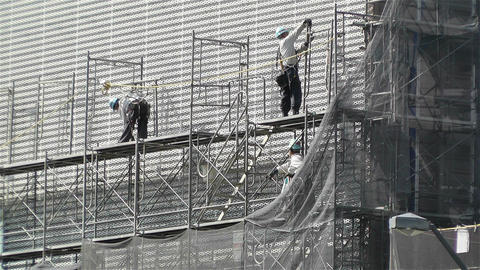 Building Construction Japan 2 Stock Video Footage