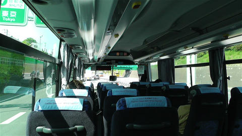 Bus Travel in Japan 1 Stock Video Footage