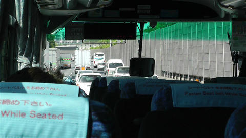 Bus Travel in Japan 3 Stock Video Footage
