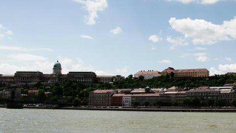Chain Bridge Budapest Hungary Timelapse Daytime 2 Stock Video Footage