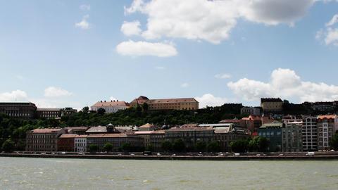 Chain Bridge Budapest Hungary Timelapse Daytime 2 Footage
