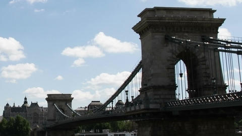 Chain Bridge Budapest Hungary Timelapse Daytime 5 Footage
