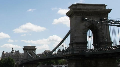 Chain Bridge Budapest Hungary Timelapse Daytime 5 Stock Video Footage