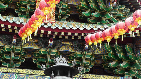 Mazu Temple in Yokohama Chinatown Japan 2 Stock Video Footage