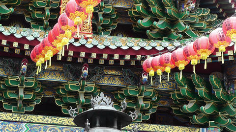 Mazu Temple in Yokohama Chinatown Japan 2 Stock Video Footage