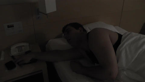 Men Sleeping 4 waking up Footage
