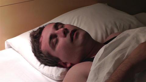 Men Sleeping Having Nightmare 5 Stock Video Footage