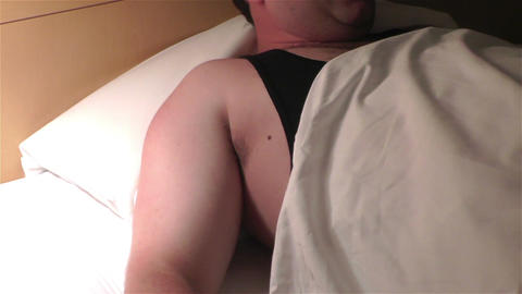 Men Sleeping Having Nightmare 5 Stock Video Footage