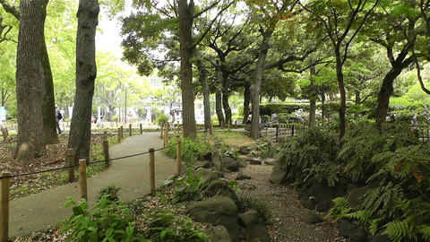Park in Yokohama Japan 11 Footage