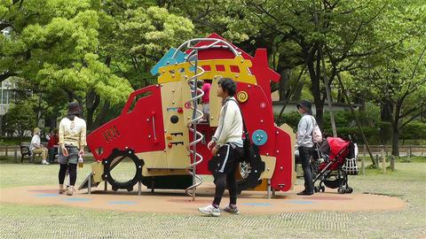 Playground in Yokohama Japan 2 Stock Video Footage