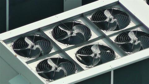 Rooftop Ventilators 2 Stock Video Footage