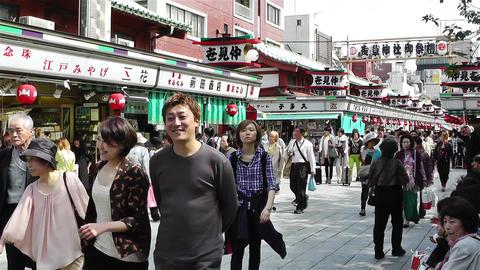 Tokyo Asakusa Japan 2 Stock Video Footage