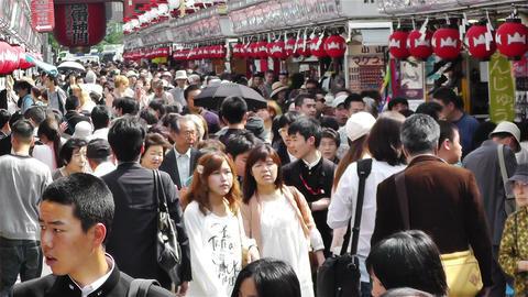 Tokyo Asakusa Japan 6 Stock Video Footage