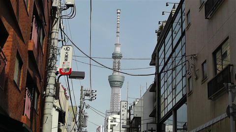 Tokyo Asakusa Japan 10 skytree Footage