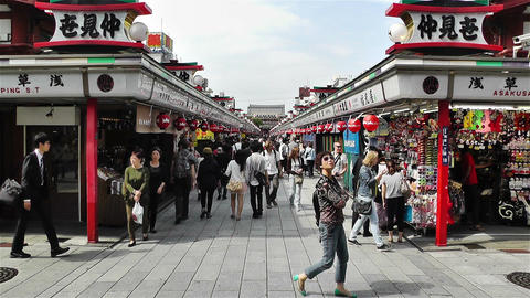 Tokyo Asakusa Japan 14 Stock Video Footage