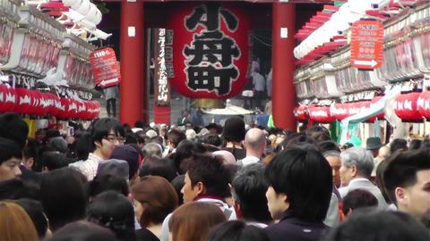 Tokyo Asakusa Japan 16 crowd Stock Video Footage