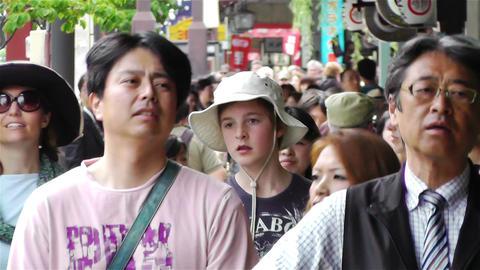 Tokyo Asakusa Japan 18 crowd Stock Video Footage