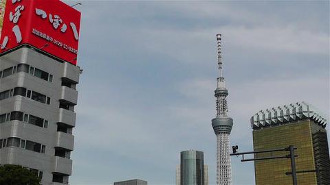 Tokyo Asakusa Japan 20 skytree Stock Video Footage