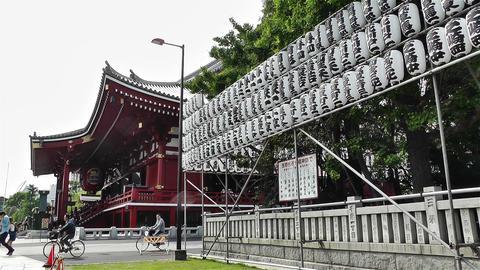 Tokyo Asakusa Senso Ji Temple Japan 2 Stock Video Footage