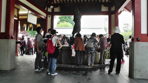 Tokyo Asakusa Senso Ji Temple Japan 4 Stock Video Footage