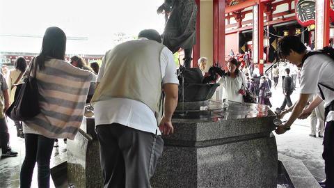 Tokyo Asakusa Senso Ji Temple Japan 6 Stock Video Footage