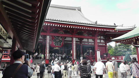Tokyo Asakusa Senso Ji Temple Japan 10 Stock Video Footage
