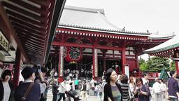 Tokyo Asakusa Senso Ji Temple Japan 10 Footage