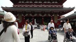 Tokyo Asakusa Senso Ji Temple Japan 12 Stock Video Footage