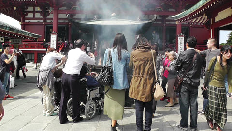 Tokyo Asakusa Senso Ji Temple Japan 14 Stock Video Footage