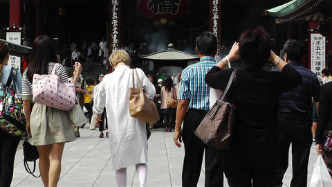 Tokyo Asakusa Senso Ji Temple Japan 16 Stock Video Footage