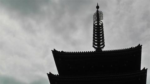 Tokyo Asakusa Senso Ji Temple Japan 18 clouds timelapse Footage