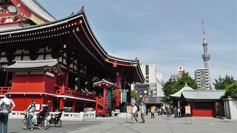 Tokyo Asakusa Senso Ji Temple Japan 23 Stock Video Footage