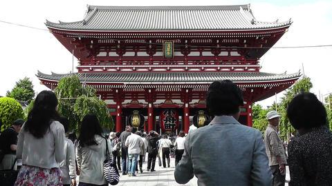 Tokyo Asakusa Senso Ji Temple Japan 25 Stock Video Footage