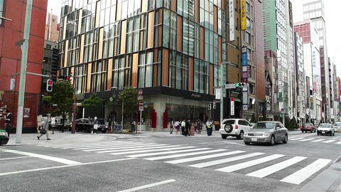 Tokyo Ginza Japan 4 Stock Video Footage