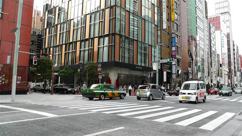 Tokyo Ginza Japan 4 Footage